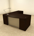 3pc L Shaped Modern Contemporary Executive Office Desk Set, #OF-CON-L65