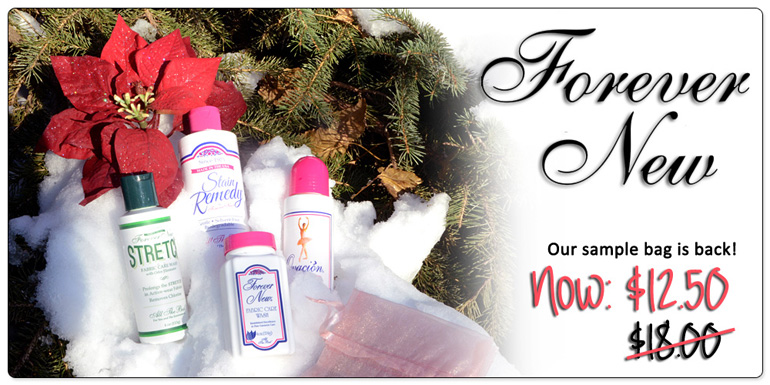 Forever New Fabric Care Sample Bag