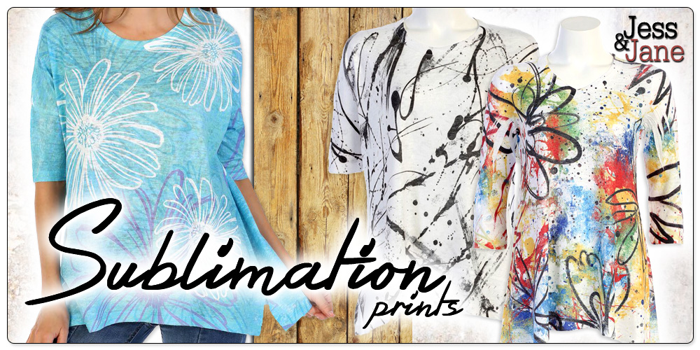 Jess & Jane Cotton Sublimation Styles