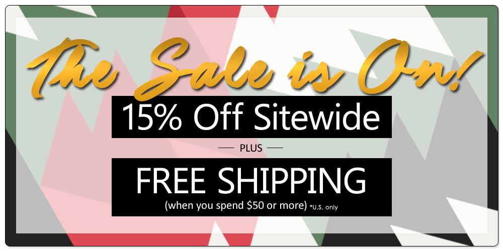 No coupon code needed! Discounts applied at the Shopping Cart