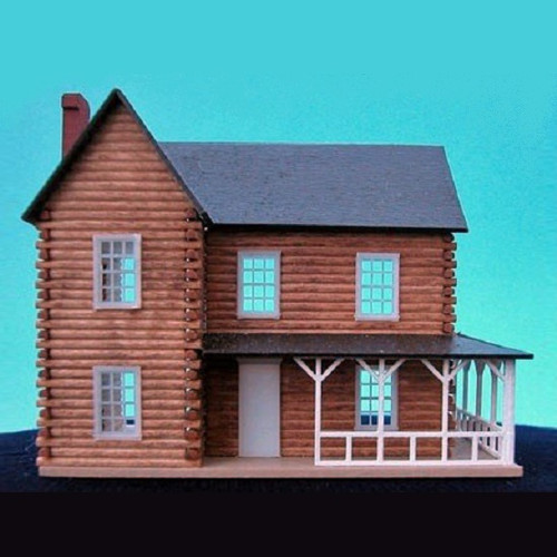 144th scale log cabin (dollhouse for dollhouse) kit from Northeastern.