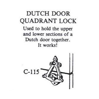 Good Dutch Door Latch