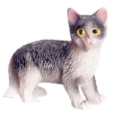 Black and White standing Cat - Jeepers Dollhouse Miniatures