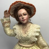 Facial close-up of Windswept Woman Doll