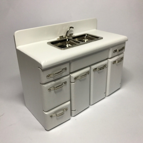 Complete 1950u0027s (white) Retro Kitchen Sink With Removable Lower Cabinet ...