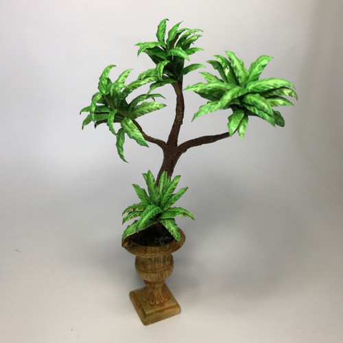 View of miniature (1:12) scale corn plant