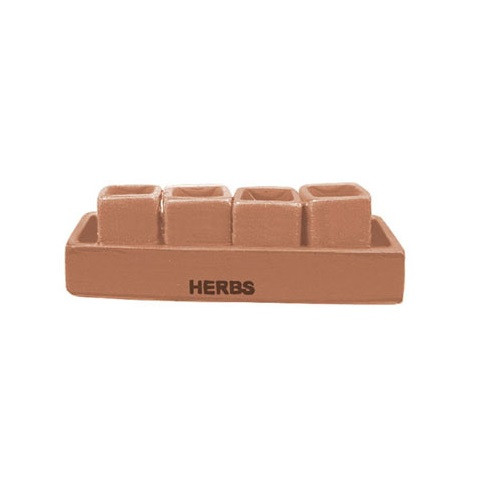 Image Of Miniature Terracotta Herb Patio Planter