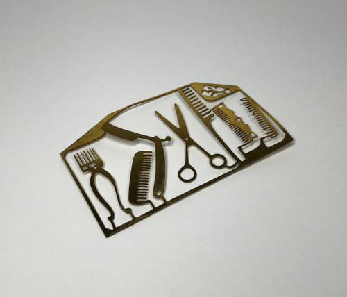 Hair care tools (brass pieces easily removed from frame)