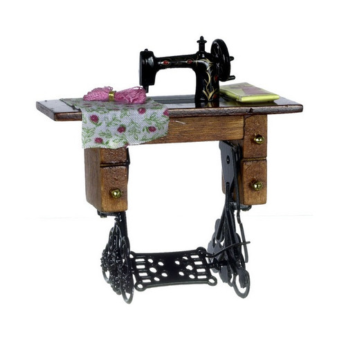 Image of dollhouse sewing machine