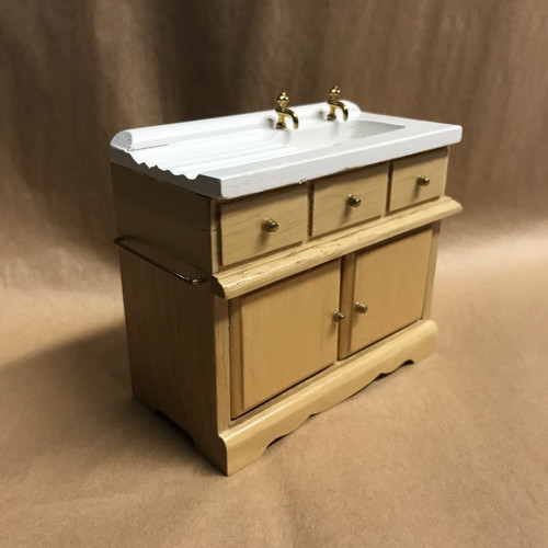 Miniature country kitchen sink