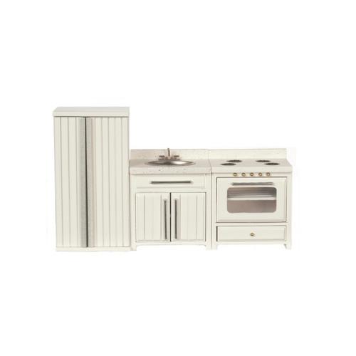 Three-piece dollhouse kitchen appliance set