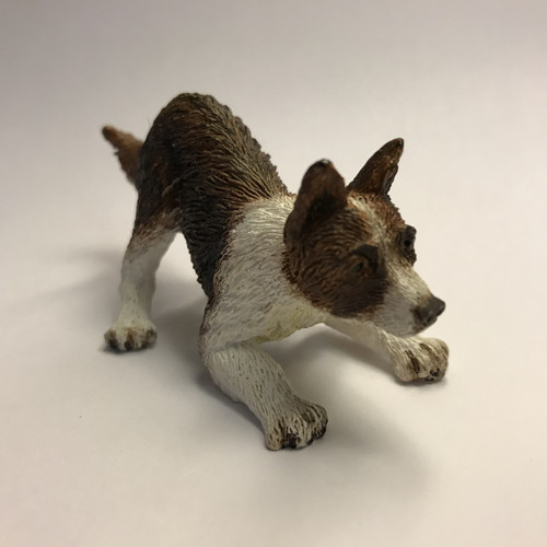 Playful pooch (dollhouse miniature dog)