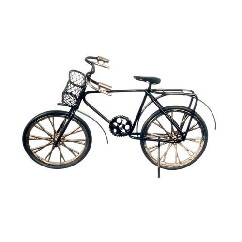 Black two-wheel miniature bicycle