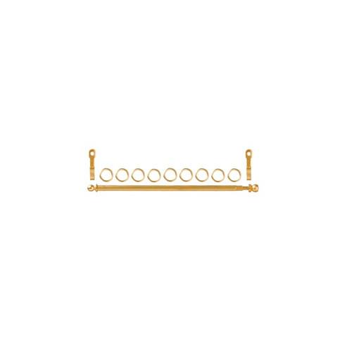 Dollhouse miniature brass curtain/drapery rod set