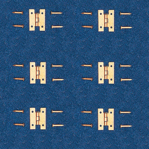 Image of solid brass miniature, flush hinges
