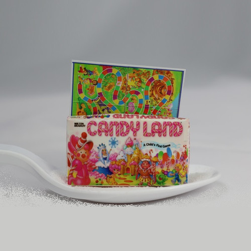 Dollhouse miniature Candy Land board game