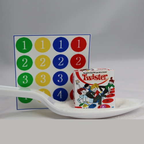 Dollhouse miniature game of Twister