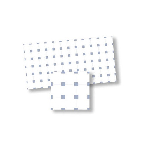 WM34135 White and Blue Square Dollhouse Tile