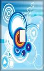 Blue Retro - Light Switch Plate Cover