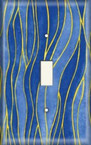 Blue Wave - Light Switch Plate Cover