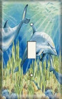 Dolphins - Light Switch Plate Cover