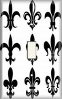 Fleur De Lis 2 - Light Switch Plate Cover