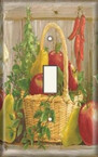 Garden Fruit Basket - Light Switch Plate Cover