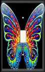 Hippie Butterfly - Light Switch Plate Cover