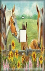 Horses and Sunflowers - Light Switch Plate Cover