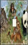 Panda and Friends - Light Switch Plate Cover