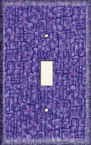 Purple Squares - Light Switch Plate Cover