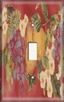 Red Fruit Painting - Light Switch Plate Cover