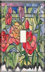 Stained Glass Roses - Light Switch Plate Cover