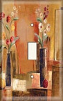 Tall Flower Vases - Light Switch Plate Cover