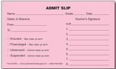 Admit Slips (M183)