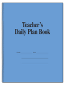 Teachers Plan Book 8 Subject, Duplicate (M117-8D)
