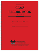 Class Record Book, 6 Subject, Red and Blue Text (910-6L)
