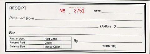 receipt book single triplicate 8k806stncr supreme school supply