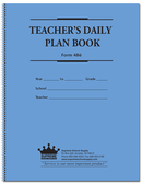 Teachers Plan Book - 6 Subject, Large (486)