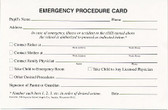 Emergency Procedure Card (284)