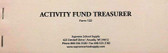 Activity Fund Treasurer Receipt (122)