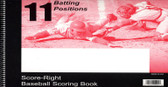 Baseball Softball 11 Position Score book (11SRCP)