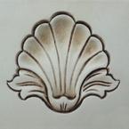 Antiqued Cream Wood Paint Sample