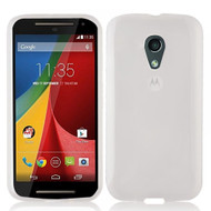 InventCase TPU Gel Case Cover Skin with Screen Protector for Motorola Moto G (2nd Generation) 2014 - Frosted Clear