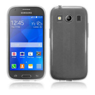 InventCase TPU Gel Case Cover Skin with Screen Protector for Samsung Galaxy Ace 4 2014 - Frosted Clear