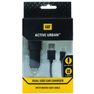 Caterpillar CAT Active Urban Dual Micro USB Car Charger