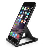 InventCase Premium Aluminium Mobile Phone Smartphone Folding Viewing Desk Stand - Black