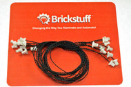 "Brickstuff 10-Pack, 12"" Connecting Cables (Bulk Packs)  - WIRE12-10PK"