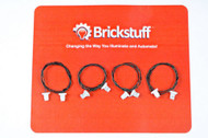 "Brickstuff 6"" Extension Cables for the Brickstuff LEGO® Lighting System (4-Pack) - GROW06"