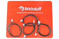 "Brickstuff 24"" Extension Cables for the Brickstuff LEGO® Lighting System (4-Pack) - GROW24"